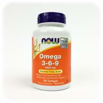 Omega 3-6-9 1000mg 100 kps. - NOW